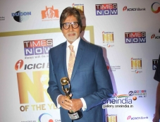 Big B at the first edition of Times Now ICICI bank NRI of the year awards ceremony Photos