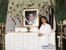 Juhi Chawla during her brother Bobby Chawla's prayer meet Photos