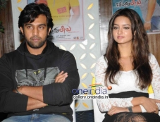Chiranjeevi Sarja, Shanvi Srivastava at Chandralekha Movie Success Meet Photos
