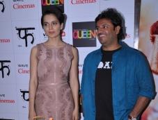 Kangna Ranaut with Vikas Bahl visits Wave Cinemas in New Delhi Photos