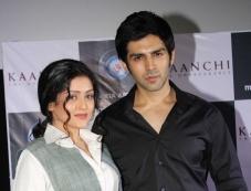 Mishti and Kartik Aaryan at trailer launch of film Kaanchi Photos