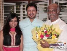 Rajinikanth blessed his old friend's daughter Amritha - actor Raja wedding Photos