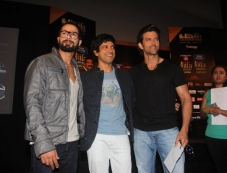 Shahid Kapoor, Farhan Akhtar and Hrithik Roshan at IIFA 2014 Press Conference Photos