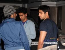 Siddharth Malhotra snapped at Karan Johar's house Photos