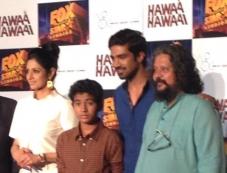 Sridevi Kapoor, Partho Gupte, Saqib Saleem and Amole Gupte at Hawaa Hawaai film trailer launch Photos