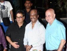Subhash Ghai , Rajinikanth & Anupam Kher at Kochadaiyaan Movie Launch Photos