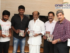 Superstar Rajnikanth Launches Naan Sigappu Manithan Audio Release Photos