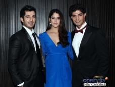 Aditya Seal, Izabelle Leite and Tanuj Virwani at Purani Jeans film music launch Photos