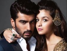 Alia Bhatt & Arjun Kapoor on Harper's Bazaar Bride April 2014 Photos