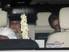 Amitabh Bachchan with wife Jaya Bachchan at Bhoothnath Returns film screening Photos