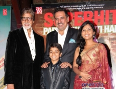Amitabh, Boman, Usha and Parth Bhalerao at Bhoothnath Returns success party Photos