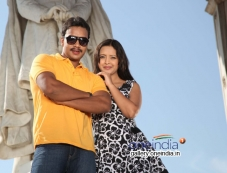 Bharat Sarja and Rekha in Kannada Movie Pulakeshi Photos