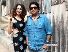Kangna Ranaut with Sai Kabir Shrivastav at Filmalaya Studios Photos