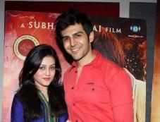 Kartik Aaryan and Mishti at Kaanchi film media interaction Photos