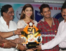Pranitha at Brahma Movie 50 Days Success Meet Photos