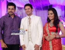 Karthik Sivakumar at Actor Raja and Amritha Marriage Reception Photos
