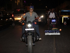 Dino Morea snapped biking in Bandra Photos