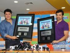 Himesh Reshammiya and Sajid Khan at Humshakals Music Premier at Radio City Office Photos