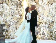 Kim Kardashian and Kanye West Wedding Photos Photos
