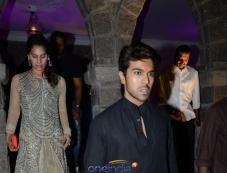 Ram Charan with his Wife at Dil Raju Daughter Wedding Reception Photos