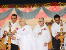Subhash Ghai and Leander Paes at Brahma kumaris decennial celebration Photos
