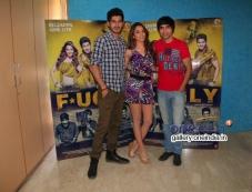 Arfi Lamba, Kiara Advani and Mohit Marwah at Fugly Movie Team Meets the Media Photos