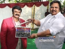 Dasari Narayana Rao sounded the clap at Balakrishna's new Movie Launch Photos