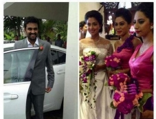Director Vijay and Amala Paul at church for Engagement Ceremony Photos