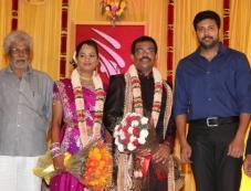 Jayam Ravi at PRO Sankaralingam Son Wedding Reception Photos
