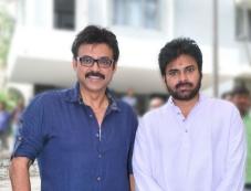 Power Star Pawan Kalyan and Victory Venkatesh at Gopala Gopala Movie Launch Photos