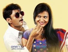 Sharan and Raksha in Kannada Movie Adyaksha Photos