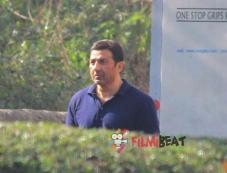 Sunny Deol on the sets of Ghayal Returns Photos