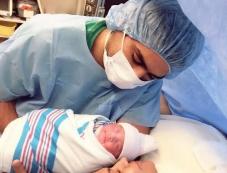Veena Malik with her husband and new born daughter Photos