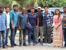 Puneeth Rajkumar Visits Allu Sirish's Okka Kshanam Sets Photos