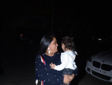 Arpita Khan Spotted With Her Son Ahil At Helen Birthday 2017 Photos