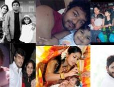 Tamil celebrities with their Kids Photos