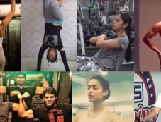 Celebrities Gym Workout Photos Photos