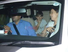 Karishma Kapoor's Son And Daughter Spotted At Juhu Photos