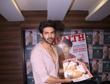 Kartik Aaryan Unveiling The March Cover Of Health & Nutrition Magazine Photos Photos