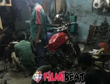 Yash Bike In KGF Movie Photos
