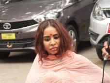 Actress Sri Reddy Protest at Film Chamber Photos
