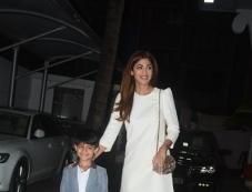 Shilpa Shetty And Raj Kundra With Birthday Boy Son Viaan Photos