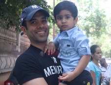 Taimur and Tusshar Kapoor With Son Laksh Spotted At Play School Bandra Photos Photos