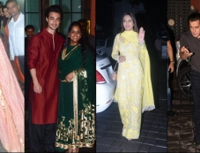 Aayush Sharma And Arpita Khan Sharma Eid Celebration 2018 Photos Photos