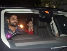Sanjay Dutt, Ranbir Kapoor and Aliaa Bhatt Spotted At Rishi Kapoor House Photos