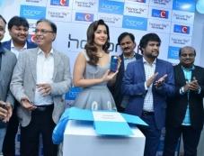 Rashi Khanna Launches Honer 9 Smart Phone At Lot Mobiles Kukatpally Photos