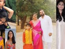 South Indian Actress with their Children Photos Photos