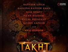 Takht First Look Poster Photos