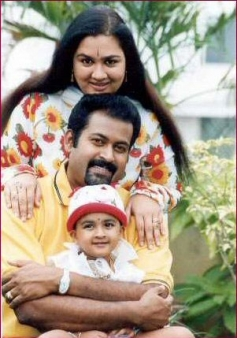 Urvashi with Family