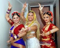 Sudha Chandran with Aditi Bhagwat and Rajeshwari